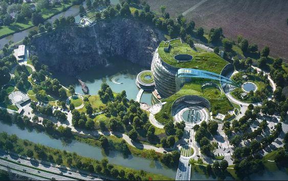 चीनको अर्को चमत्कार : जमिनमुनि बनायो १८ तले पाँचतारे होटल !