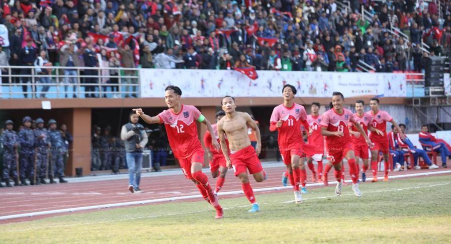 इतिहास रच्दै नेपालले घरमा जित्यो साग फुटबलको तेस्रो स्वर्ण पदक