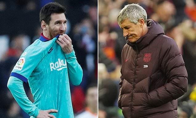'अर्थहीन पास खेलेको' भन्दै बार्सिलोना प्रशिक्षक खेलाडीसँगै रिसाएपछि …….