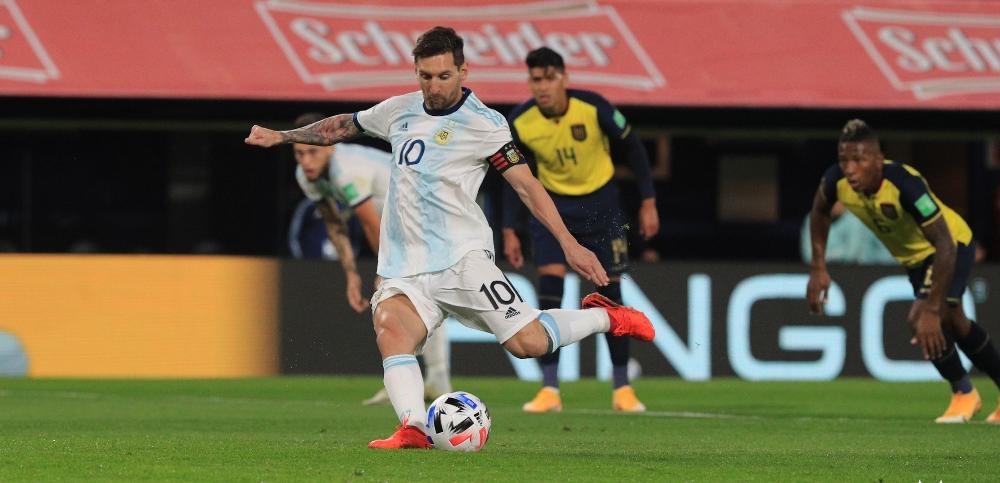 अर्जेन्टिना भर्सेस इक्वेडर : पहिलो हाफमा अर्जेन्टिना १–० ले अघि